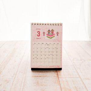 【2021年4月始まり】モリンガのきせき卓上カレンダー3月